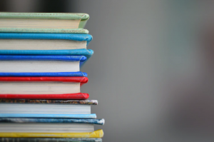 a stack of books